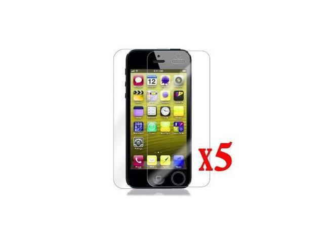 Clear 5 X Front and Back LCD Screen Protector Cover for New Apple iPhone 5G
