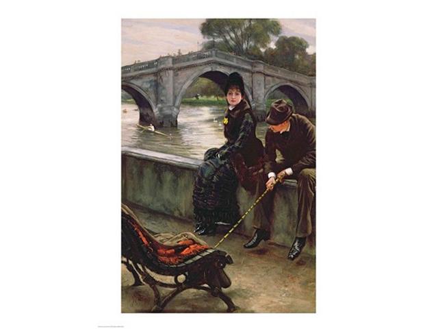 Richmond Bridge, c.1878 Poster Print by James Jacques Joseph Tissot (18 x 24)