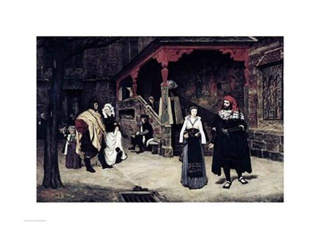The Meeting of Faust and Marguerite, 1860 Poster Print by James Jacques Joseph Tissot (24 x 18)