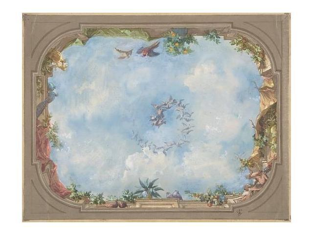 Design for trompe l 39 oeil stairway ceiling h tel hope for Poster fenetre trompe l oeil
