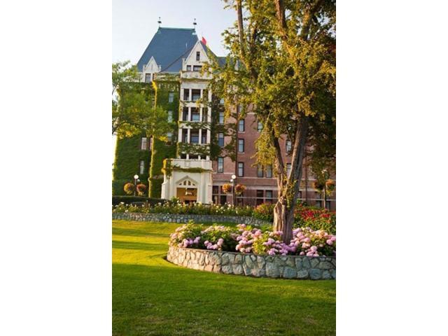 British Columbia Victoria Empress Hotel Gardens Poster