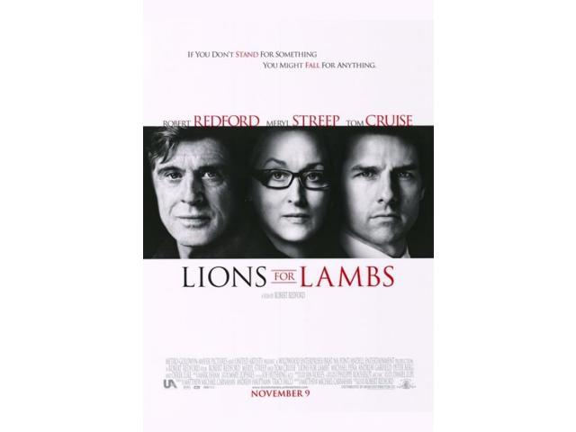 lions for lambs movie poster 27 x 40neweggcom