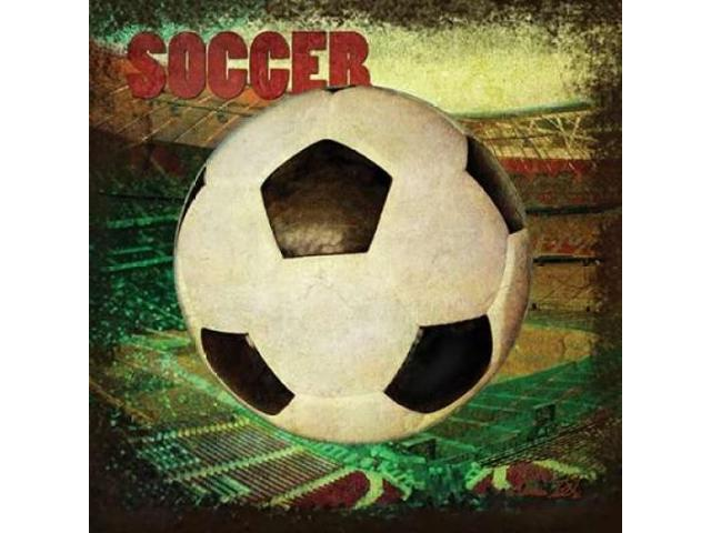 Soccer Square II Poster Print by Denise Tedeschi (12 x 12)