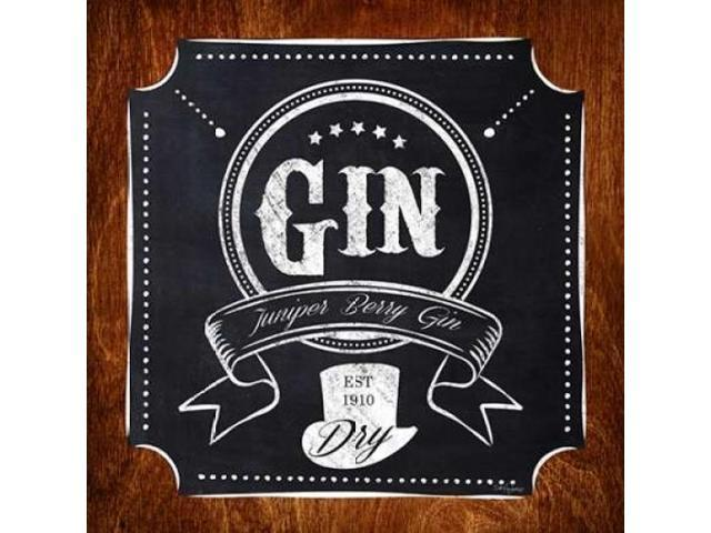Gin Drinker Poster Print by Sam Appleman (24 x 24)