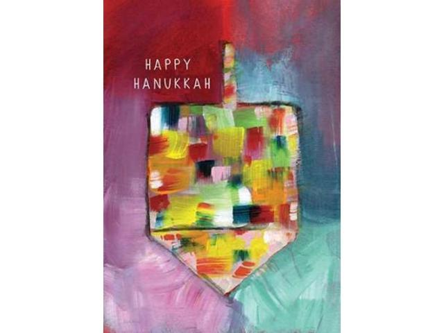 Dreidel of Many Colors - Happy Hanukkah Poster Print by Linda Woods (10 x 14)