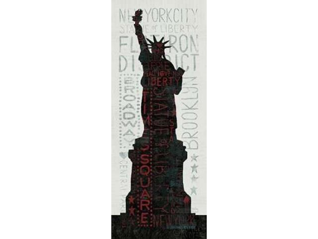 Statue of Liberty - Red Poster Print by Michael Mullan (10 x 20)