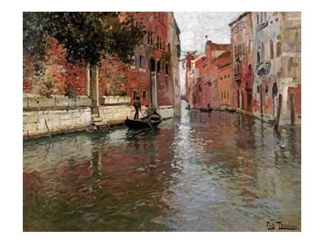 A Venetian Backwater Poster Print by Fritz Thaulow (24 x 30)
