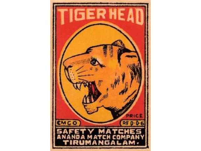 Tiger Head Safety Matches Poster Print by  Phillumenart (24 x 36)