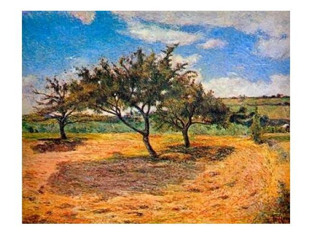 Apple Trees In Blossom Poster Print by Paul Gauguin (22 x 28)