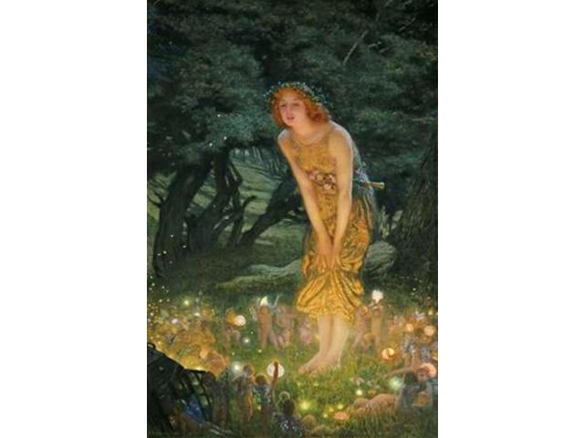 Midsummer Eve Poster Print by  Edward Robert Hughes  (12 x 18)