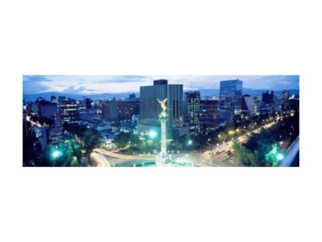 Mexico City, El Angel Monument Poster Print by Panoramic Images (37 x 12)