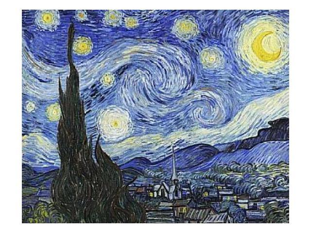 Starry Night Poster Print by Vincent Van Gogh (24 x 30)