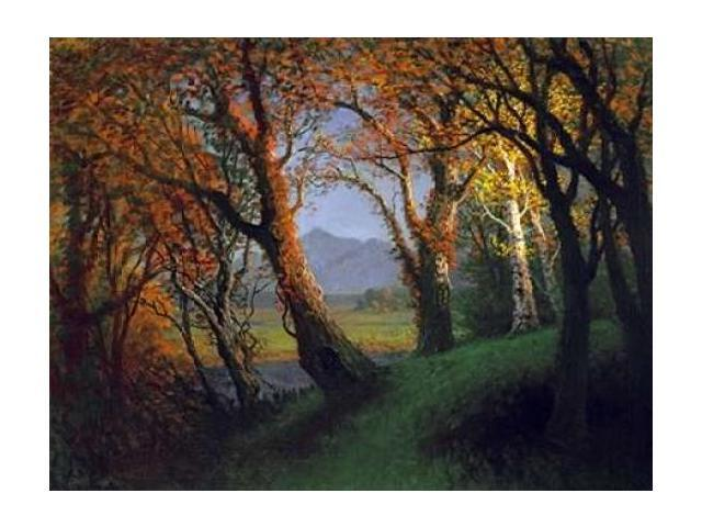 Sunset In The Nebraska Territory Poster Print by Albert Bierstadt (22 x 28)