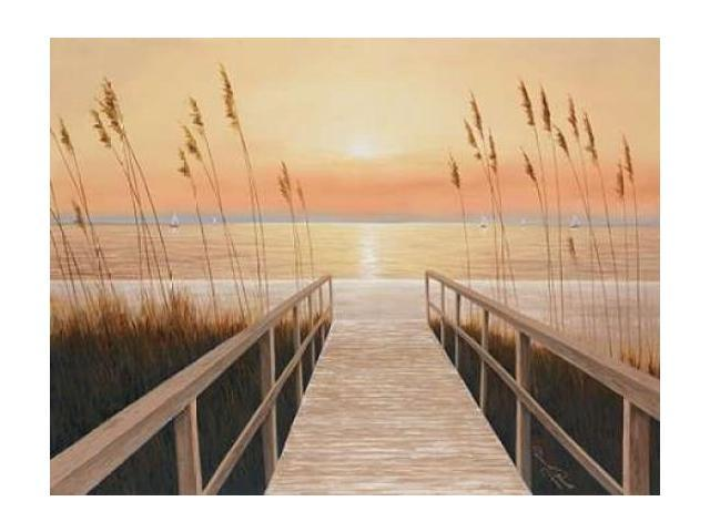 Walkway to Sea Poster Print by Diane Romanello (18 x 24)