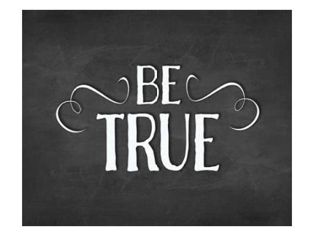 Be True Poster Print by Amy Cummings (24 x 30)