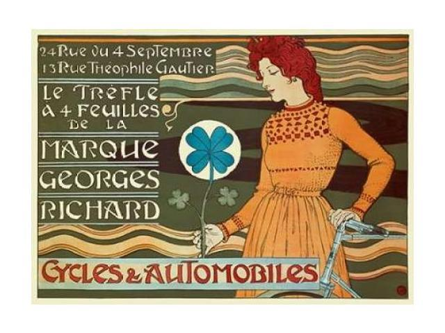 Marque Georges Richard/Cycles and Automobiles Poster Print by  Eugene Grasset  (9 x 12)