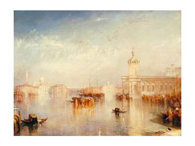 The Dogana - San Giorgio - Citella - from the Steps of the Europa Poster Print by William Turner (22 x 28)