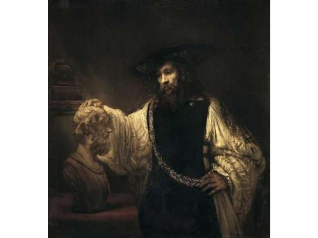 Aristotle With a Bust of Homer Poster Print by  Rembrandt Van Rijn  (12 x 12)