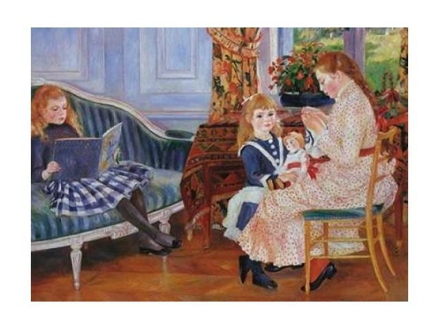 Childrens Afternoon At Wargemont Poster Print by Pierre-Auguste Renoir (18 x 24)