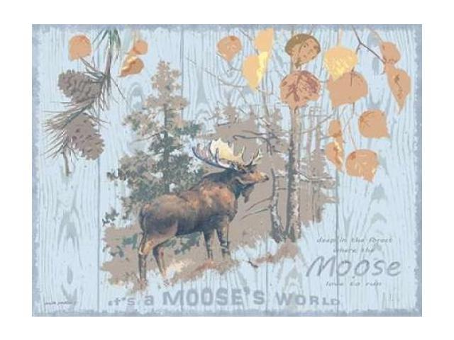 Mooses World Gray Poster Print by Anita Phillips (18 x 24)