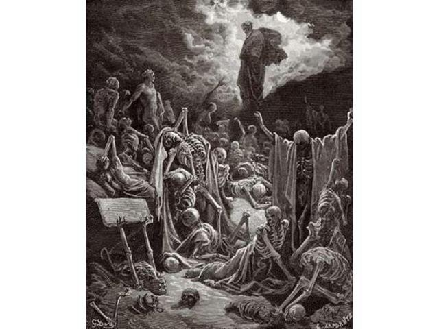 The Visions of Ezekiel The Vision of the Valley of the Dry Bones Poster Print by Gustave Dore (24 x 30)