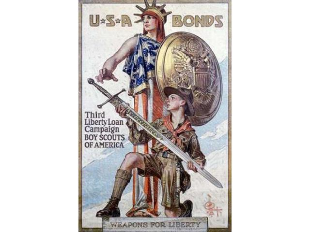 Weapons for Liberty 1918 Poster Print by  J.C. Leyendecker  (12 x 18)
