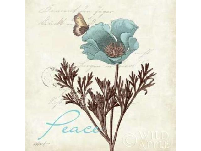 Touch of Blue I - Peace Poster Print by Katie Pertiet (12 x 12)