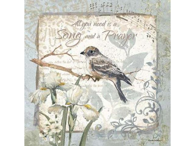 A Song and a Prayer - Border Poster Print by Anita Phillips (12 x 12)