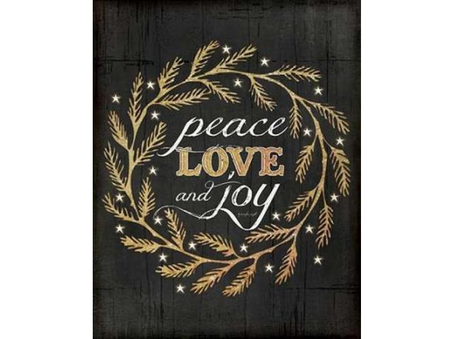 Peace, Love and Joy Poster Print by Jennifer Pugh (22 x 28)