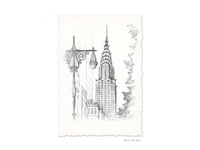 New York Avenue Pen and Ink Poster Print by  Art Atelier Alliance (22 x 28)
