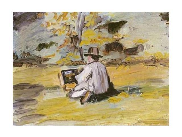 A Painter at Work Poster Print by  Paul Cezanne  (10 x 14)