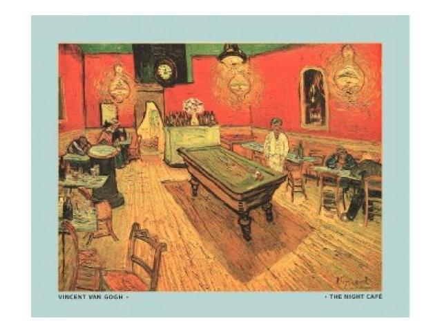 The Night Cafe with Pool Table Poster Print by Vincent van Gogh (30 x 24)