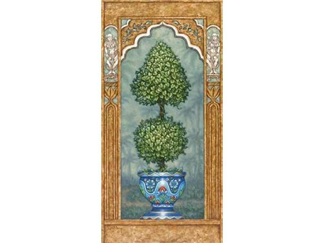Temple Topiary l Poster Print by Janet Kruskamp (24 x 48)