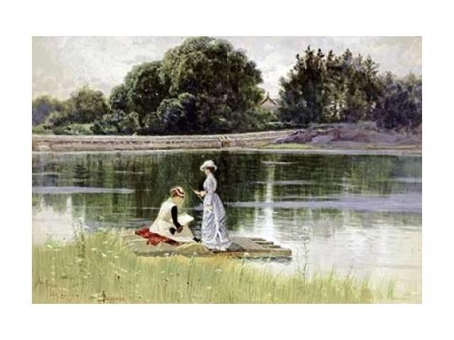 A Pleasant Afternoon Poster Print by Alfred Thompson Bricher (24 x 36)