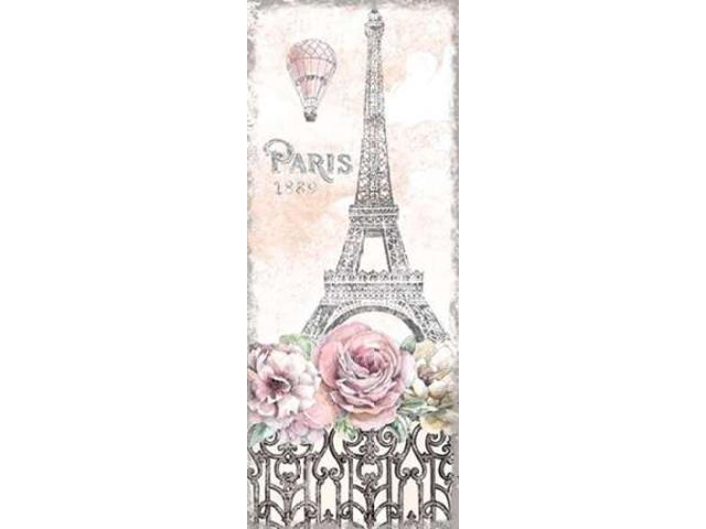 Paris Roses Panel VIII Poster Print by Beth Grove (10 x 20)