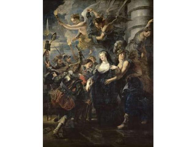 The Flight From Blois - Life of Marie de Medici Queen of France Poster Print by Peter Paul Rubens (22 x 28)