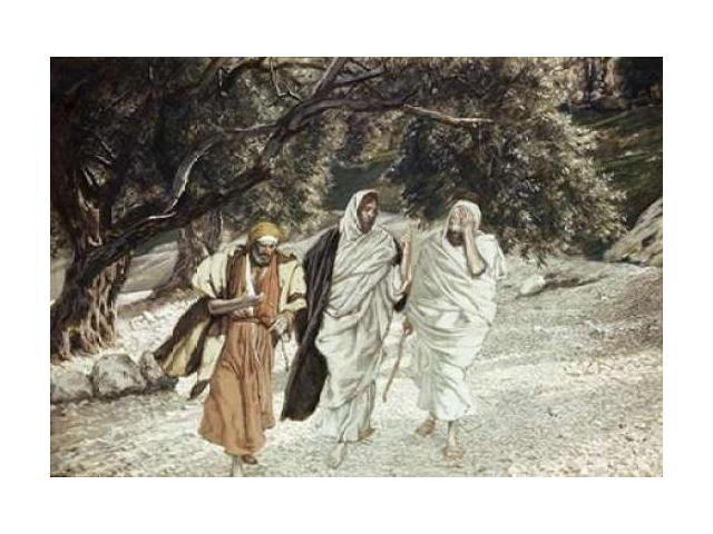 Disciples On The Road To Emmaus Poster Print by  James Jacques Tissot  (10 x 14)