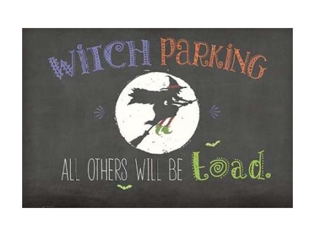 Witch Parking Poster Print by Jo Moulton (12 x 18)