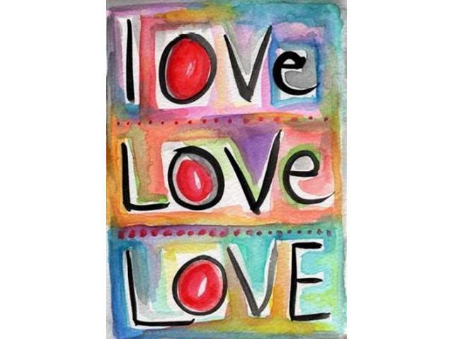 Love Poster Print by Linda Woods (20 x 28)