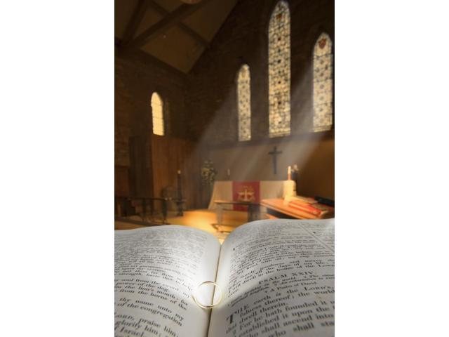 Bible With A Ring In Church Sanctuary Poster Print (12 x 19)