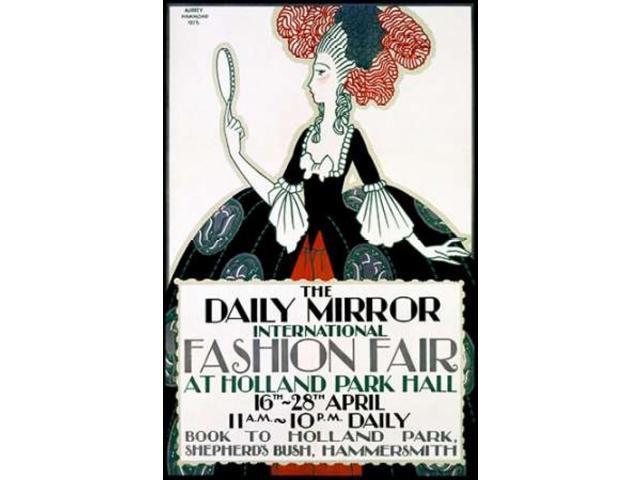 The Daily Mirror/Fashion Fair Poster Print by Aubrey Hammond (24 x 36)