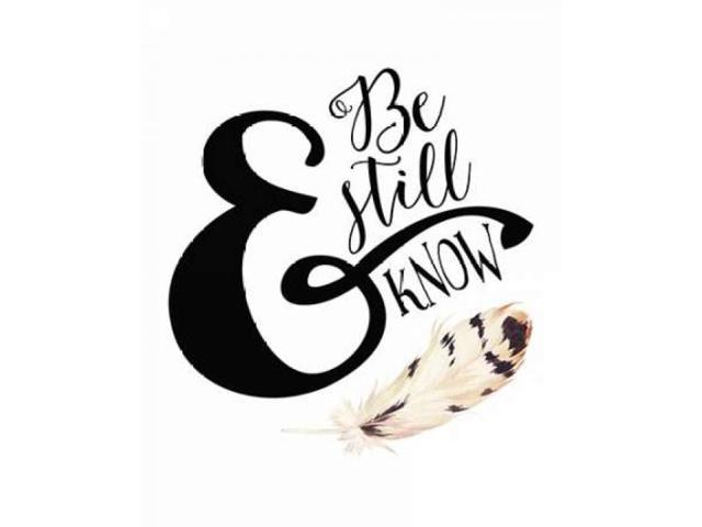 Be Still and Know Feather Poster Print by Tara Moss (24 x 30)
