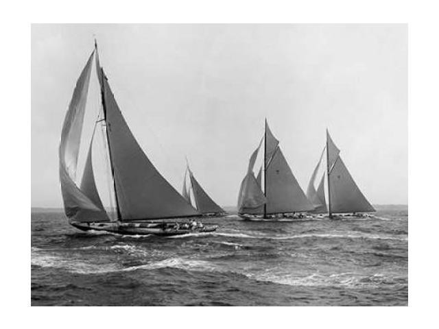Sloops at Sail 1915 Poster Print by Edwin Levick (22 x 28)