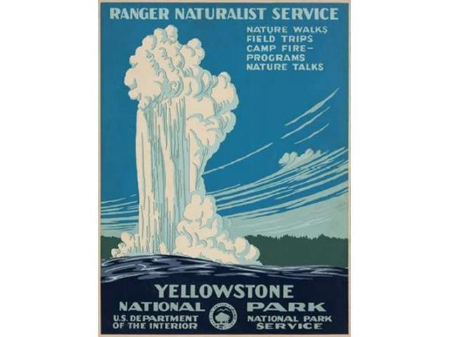 Yellowstone National Park ca. 1938 Poster Print by  Ranger Naturalist Service (18 x 24)
