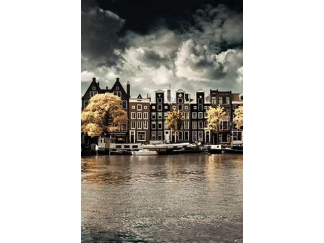Amsterdam Autumn Canal I Poster Print by Erin Berzel (20 x 28)