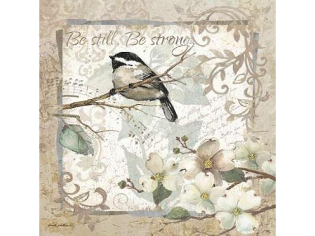 Be Still - Be Strong - Border Poster Print by Anita Phillips (24 x 24)