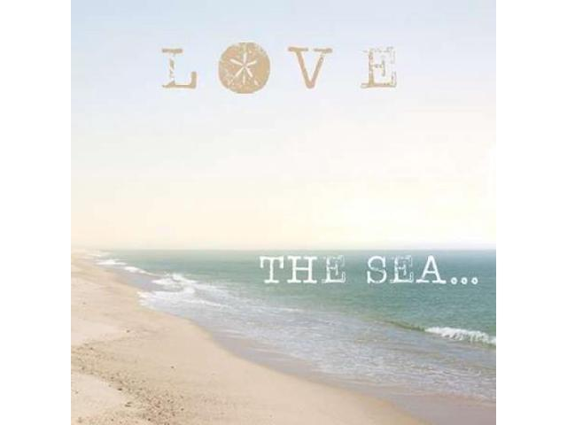 Love the Sea Poster Print by Laura Marshall (12 x 12)