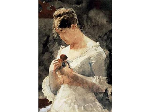 Woman with a Rose Poster Print by Winslow Homer (24 x 36)