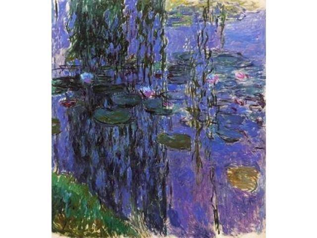 Willow Fronds And Nympheas Poster Print by  Claude Monet  (12 x 12)