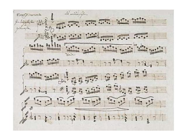 Manuscript of The Second and Third Movements Piano Sonata In E Flat Poster Print by Ludwig Van Beethoven (22 x 28)